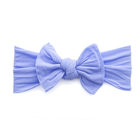 KNOT SOLID HEADBAND-PERIWINKLE