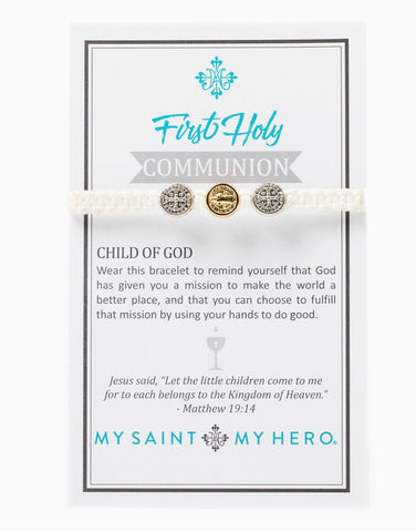 1ST COMMUNION KIDS BRACELET WHITE