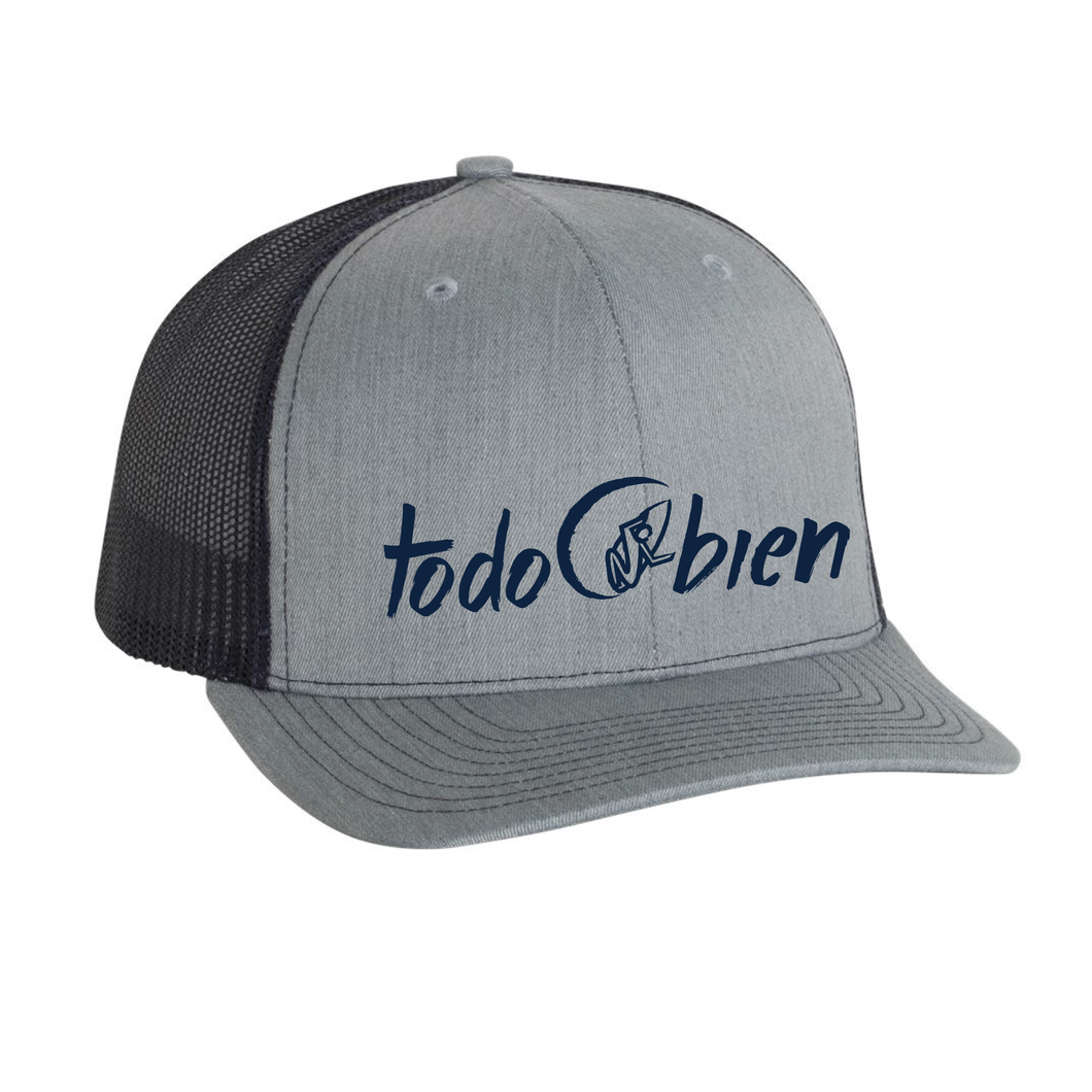 Surfer Hat Trucker Style Grey/Black