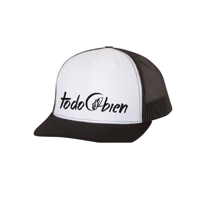 Surfer Hat Trucker Style Black/White