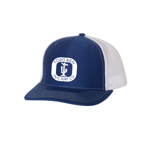 Cactus Emblem Hat Trucker Blue/white