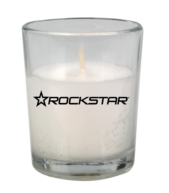 Rockstar Unscented White Candle