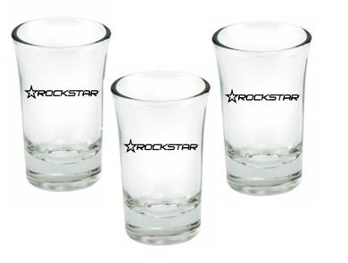 Rockstar Shot Glasses- 3 Pack