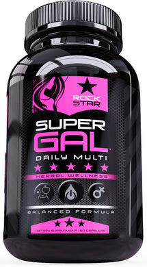 Rockstar Super Gal Vitamin for Women - Women's Daily Supplement Multivitamin, 60 count