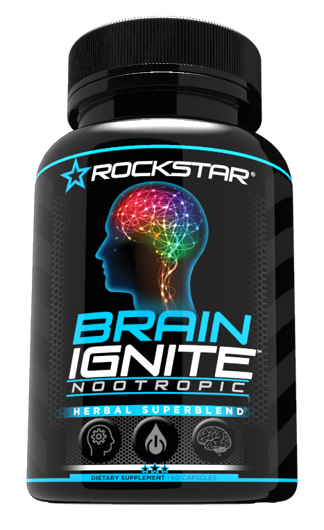 Rockstar Brain Ignite - Supports Clarity, Focus, Wellbeing - Nootropic With Ginkgo Biloba