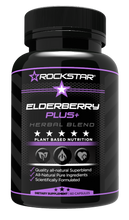 Sambucus Elderberry by Rockstar, Herbal Supplement with Turmeric, Jujube, and Milk Thistle, Gluten Free, Vegetarian, 60 Capsules