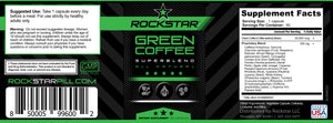 Green Coffee Dietary Supplement Superblend, 60 Capsules, by Rockstar