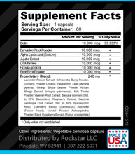 Rockstar HIP Support Dietary Supplement Superblend, 60 Capsules