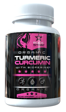 Turmeric Curcumin for Women | Organic | with Bioperine 1500mg by Rockstar