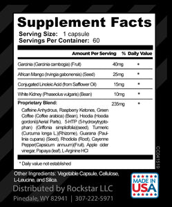 Skinny Gal Weight Loss For Women, Diet Pills by Rockstar, The #1 Thermogenic Diet Pill and Fat Burner, Weight Loss Pills, 60 Veggie Caps