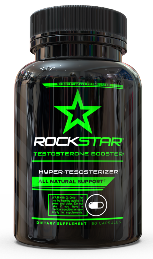 Testosterone Booster by Rockstar -- Formulated to Support Testosterone, Increase T-Levels - Natural Ingredients Including Tribulus, Yohimbe, Maca & Tongkat Ali, 60 Capsules