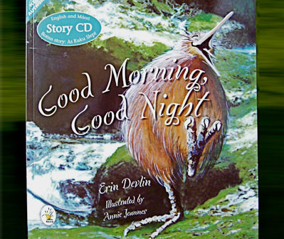 'Good Morning, Good Night' book written by Erin Devlin & illustrated by Annie Jeannes