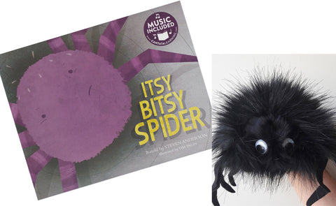 'Itsy Bitsy Spider (SING-ALONG TO THE SONG') Book, CD & Spider Hand Puppet