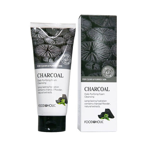 Foodaholic Charcoal Cleanser - Beauty Seoul NZ