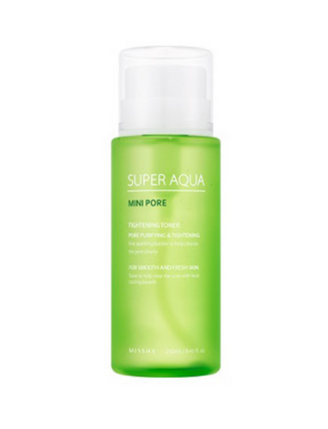 Missha Super Aqua Mini Pore Toner 250ml - Beauty Seoul NZ