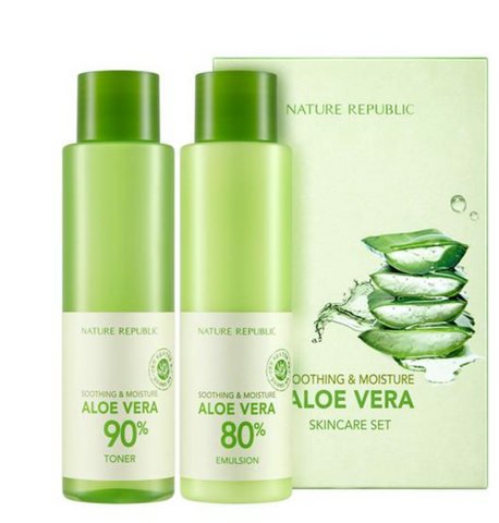 Nature Republic Soothing & Moisture Aloe Vera SkinCare Set - Beauty Seoul NZ