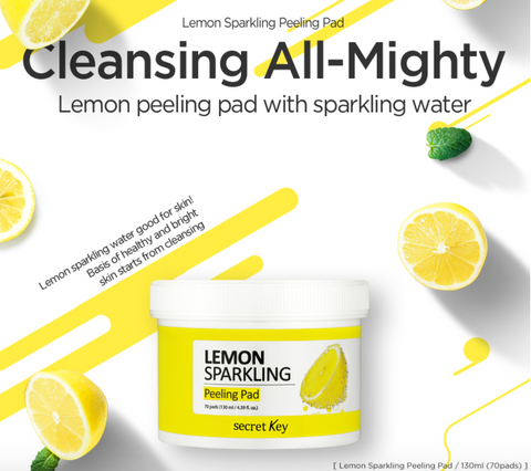 Secret Key - Lemon Sparkling Peeling Pad 70pcs - Beauty Seoul NZ
