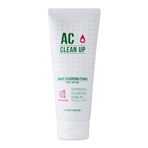 Etude House AC Clean up daily acne foam cleanser - Beauty Seoul NZ
