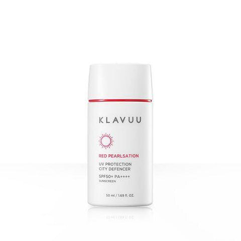 KLAVUU Red Pearlsation UV Protection City Defencer SPF50+ PA++++ 50ml (Request) - Beauty Seoul NZ