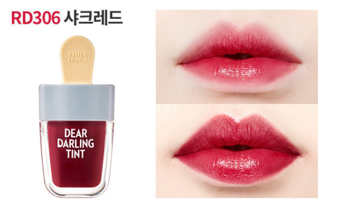 Etude House Dear Darling Ice Cream Lip tint RD306 Shark Red - Beauty Seoul NZ