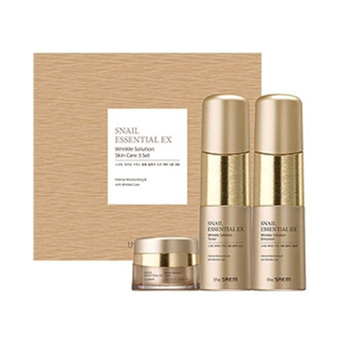 THE SAEM Snail Essential EX Wrinkle Solution Skin Care 2 Set - 1pack (3items) (Request) - Beauty Seoul NZ