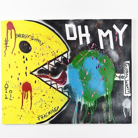 With this piece of custom art by Mr. Nice, global warming awareness is raised.