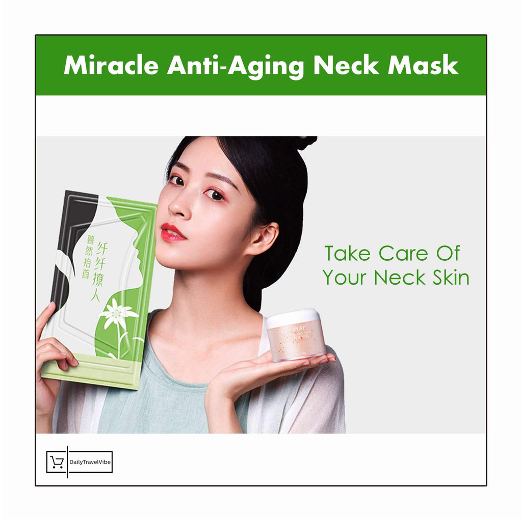 MIRACLE ANTI-AGING NECK MASK *5 PCs