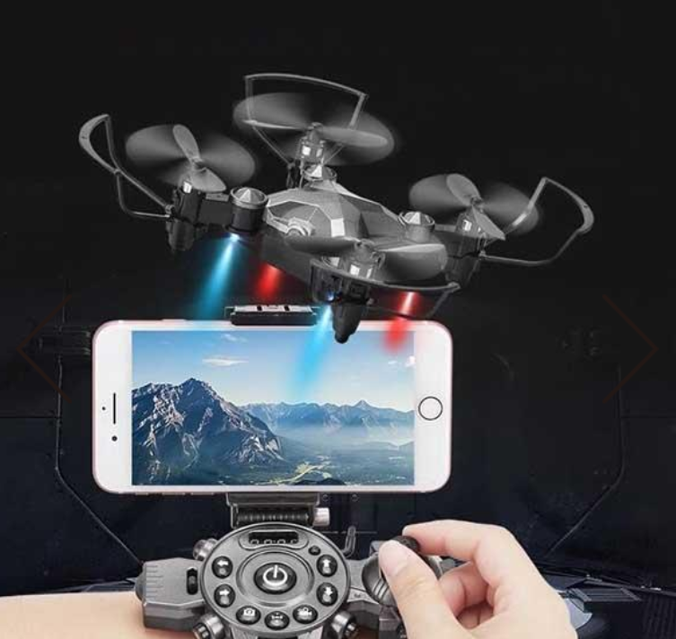NEW Mini Helicopter with Wearable Watch Remote Foldable Drone 4 Axis FPV Camera