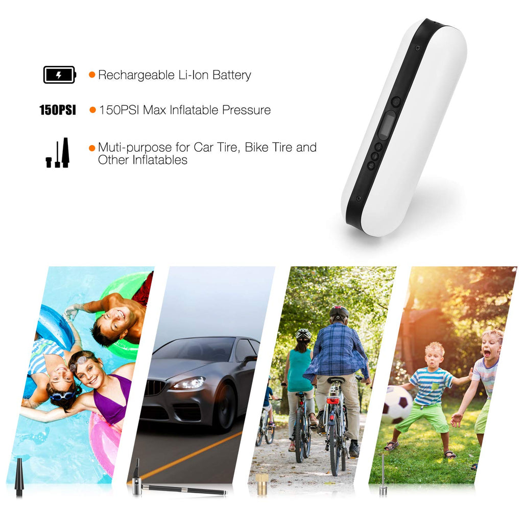 Smart Mini Rechargeable Inflator for Car Cicycle Tires Bike Shock