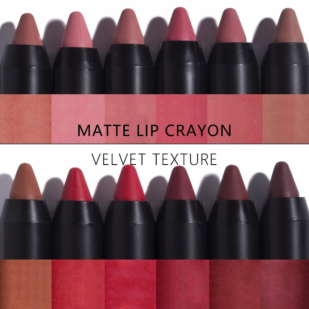 12PCS/LOT MATTE LIPSTICK