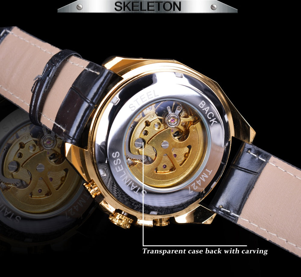 Steampunk Automatic Mechanical Wrist Watches