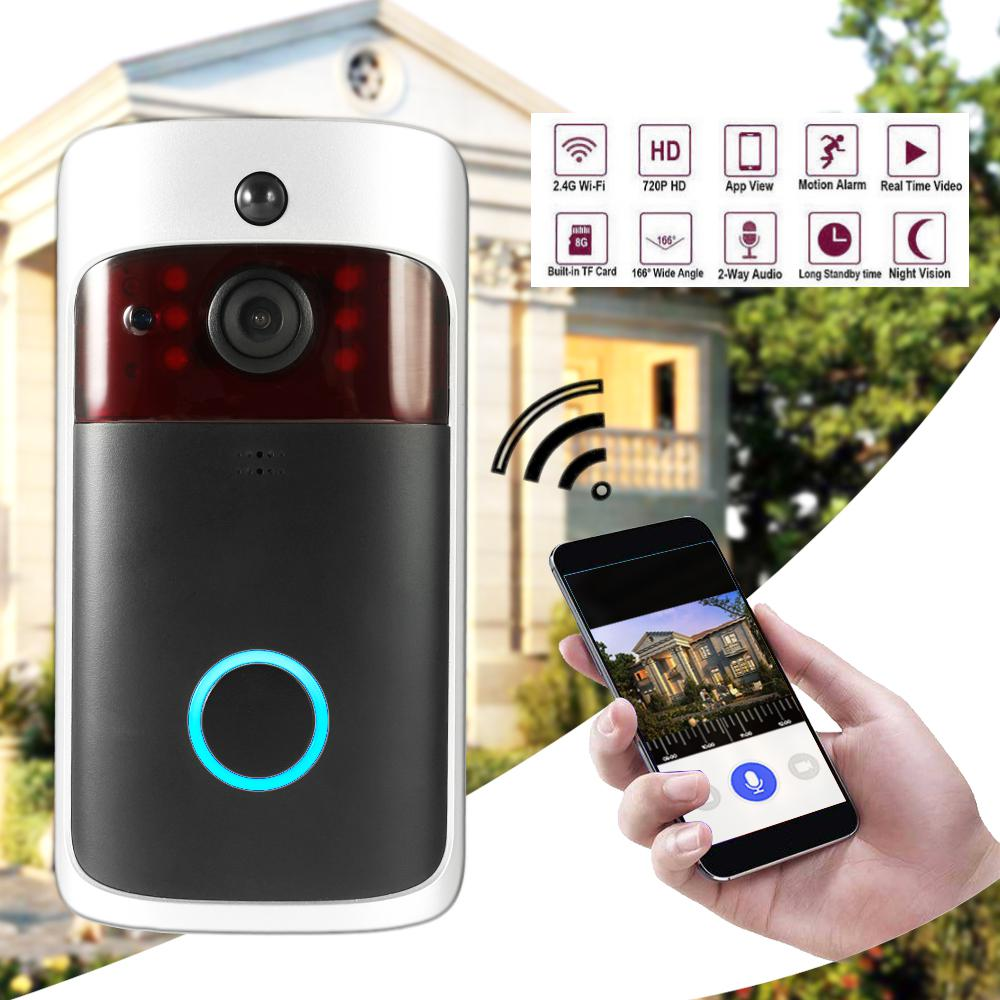 Home Video Doorbell, Smart Doorbell Wifi Camera with Wireless Indoor Chime, Battery and Charger, Two-Way Talk, Night Vision