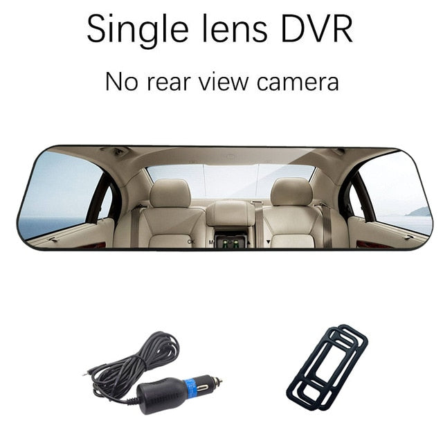 Full HD Dual Dash Car Camera Mirror DVR