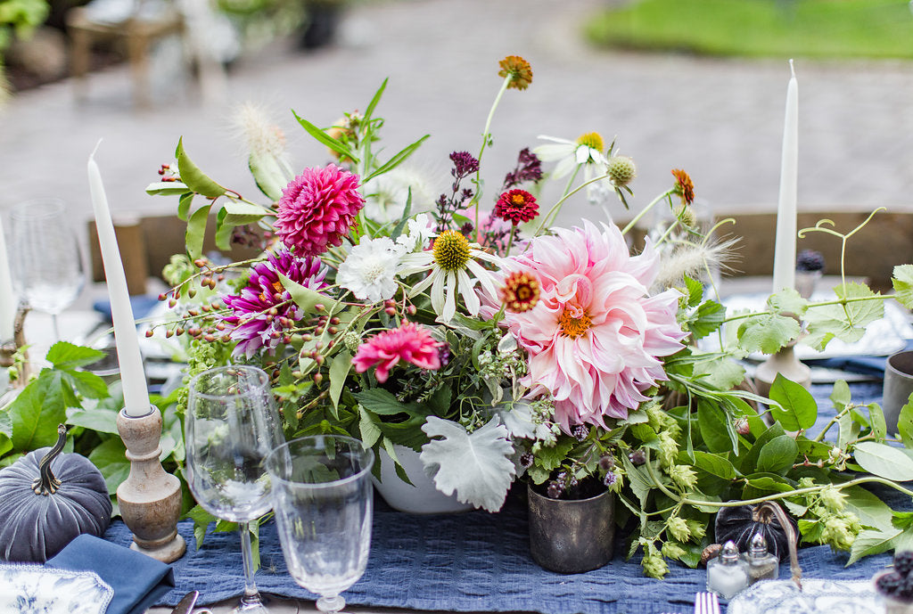 First & Bloom Summer tablescape
