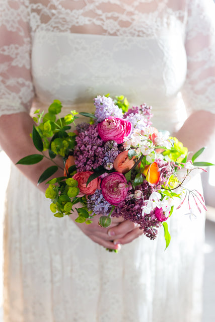 Bellevue bridal bouquets in spring blooms