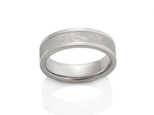 "Gibeon Meteorite ""Capella"" Men's Wedding Band"