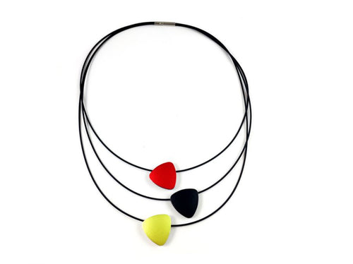Reversible Multi-Color Aluminum Pendants Necklace