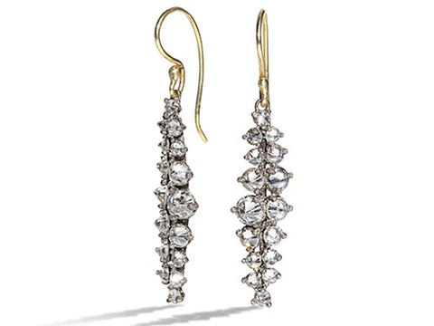 "18K White Gold ""Medium Dragonfly"" Earrings"