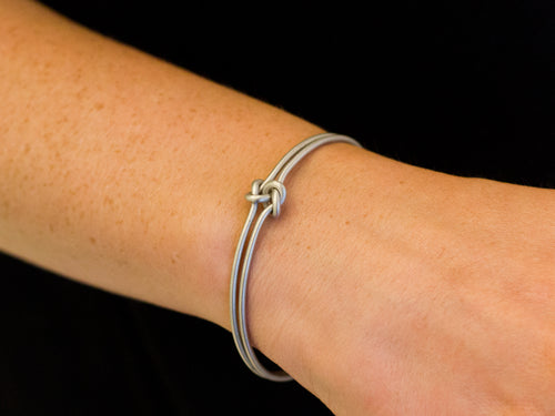 "Sterling Silver ""Nois Dois"" Bangle Bracelet"