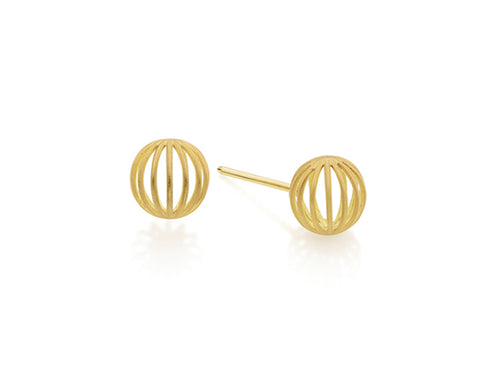 "Antonio Bernardo Yellow Gold ""Espeto Orbis"" Stud Earrings"