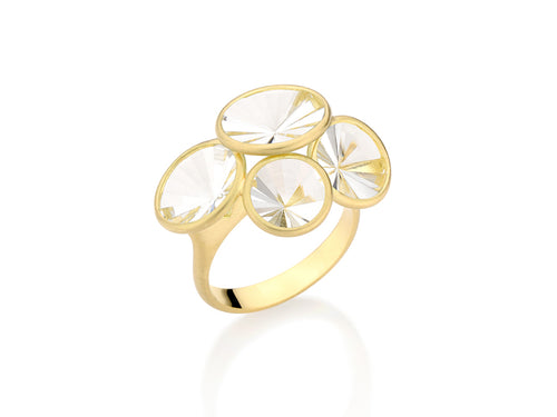 "18K Yellow Gold and Quartz ""Celebration"" Ring"