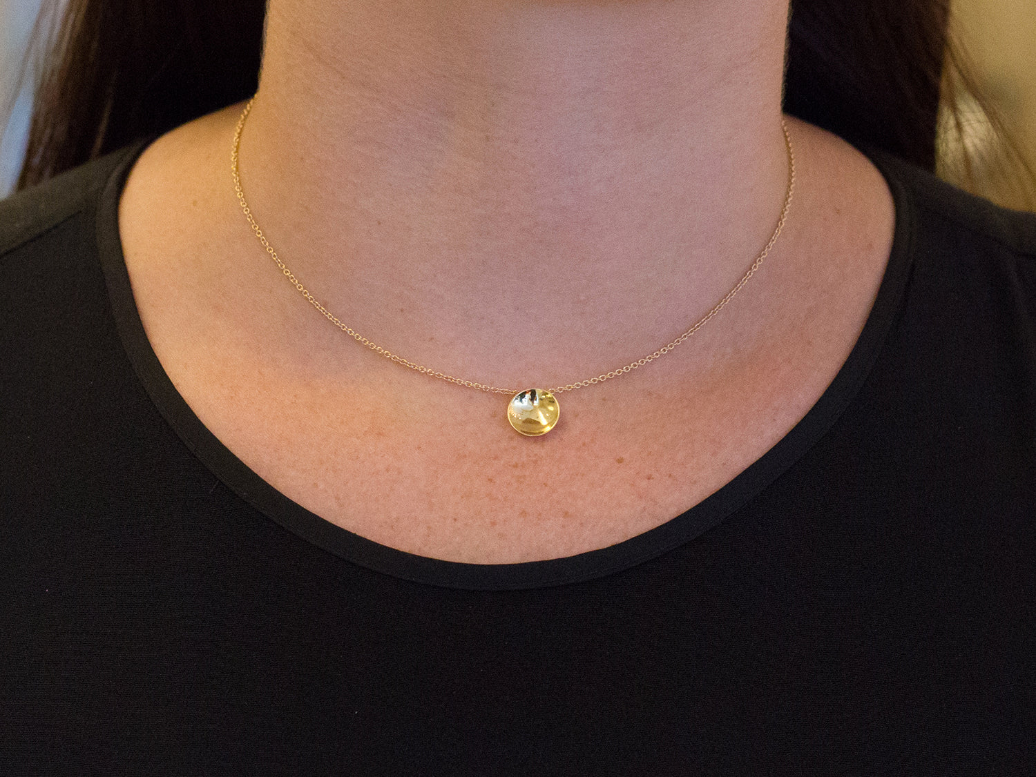 "18K Yellow Gold ""Lumi Uno"" Necklace"