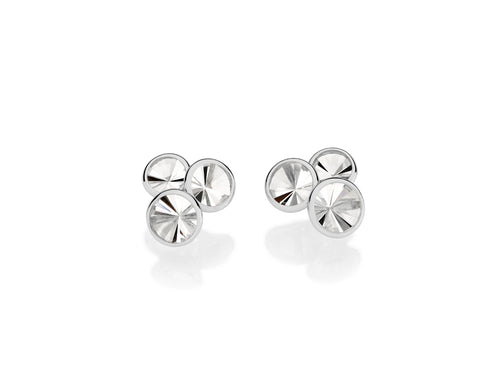 "Antonio Bernardo White Gold and Quartz ""Celebration"" Stud Earrings"