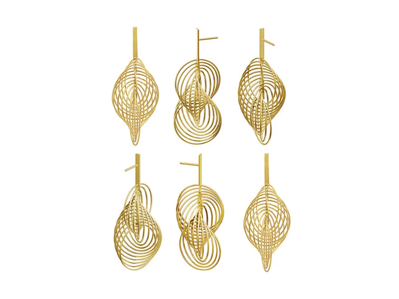 "18K Yellow Gold ""360 Degrees"" Dangle Earrings"