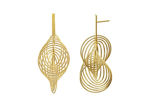 "Gold ""Kioto"" Earrings"