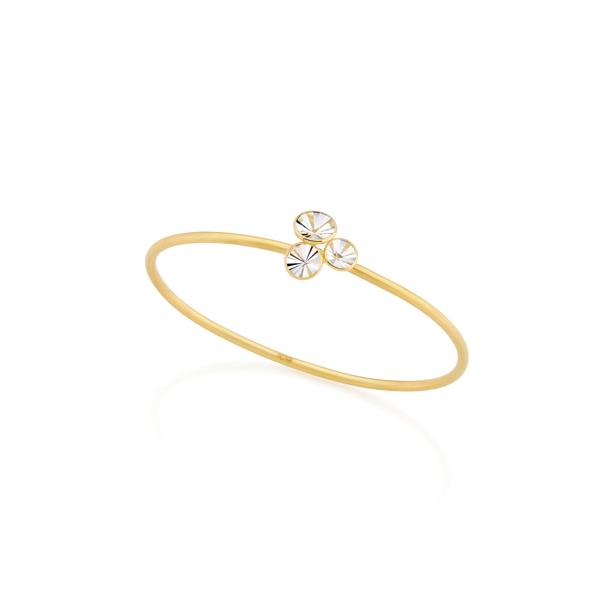 "Quartz Cluster ""Celebration"" Bangle Bracelet"