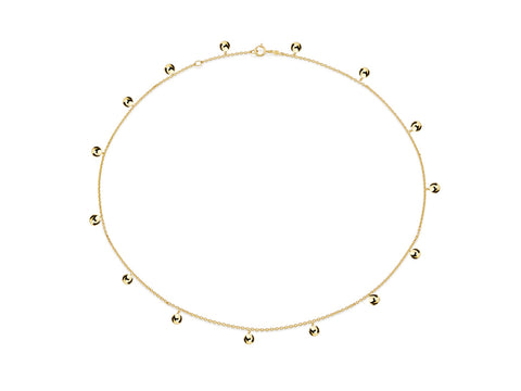 "18K Gold ""Delta"" Hoop Earrings"