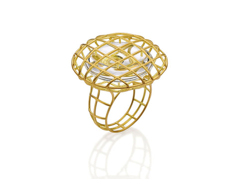 Twisted Rope Split Shank Pavé Diamond Ring in Rose Gold