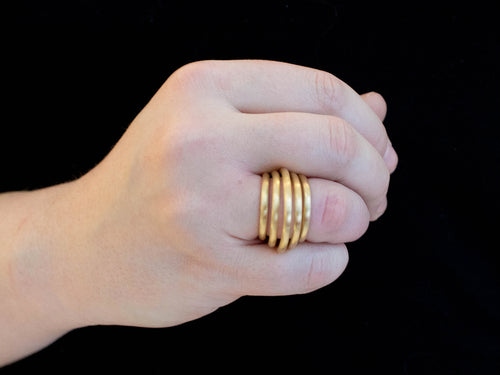 "18K Yellow Gold ""Roll"" Ring"