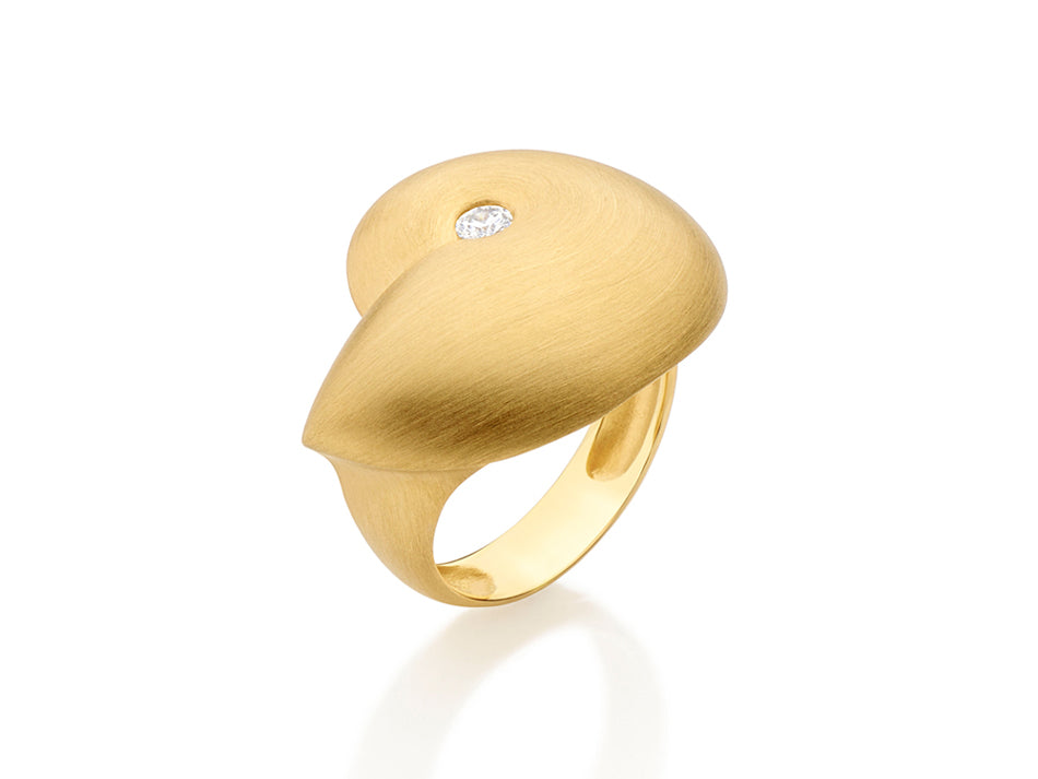 "18K Yellow Gold and Diamond ""Bio"" Ring"